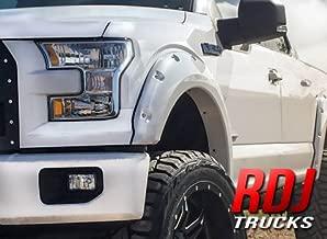 RDJ Trucks PRO-Offroad Bolt-On Style Fender Flares - Fits F150 2015-2017 - Set of 4 (Smooth Paintable Black)