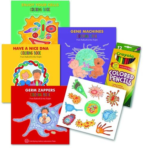 Enjoy Your Cells Series Coloring Books, 4-Book Gift Set: Four-volume set with colored pencils and stickers