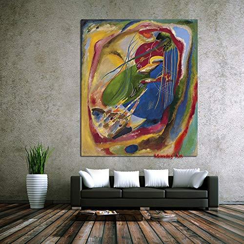 wZUN La Mejor Pintura al óleo sobre Lienzo para decoración del hogar, Pintura de Pared para Sala de Estar 60x90 Sin Marco