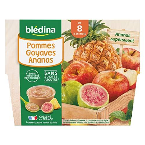 Blédina Bébé Bla © Dina Äpfel Ananas Guave (von 8 Monaten auf 36 Monate) mit dem 4 Töpfe Von 100G (Set von 6 oder 24 Töpfe)