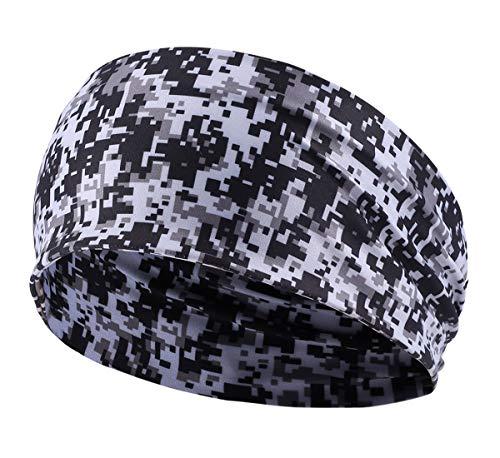 AIEOE Kopfband Elastische Weiche Stirnband Outdoor Sport Haarband Camouflage Schweißband zum Joggen Radfahren Yoga