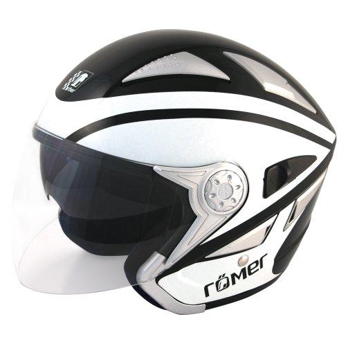 Preisvergleich Produktbild Römer RR Jethelm Florida,  Schwarz / Weiß,  Größe XL