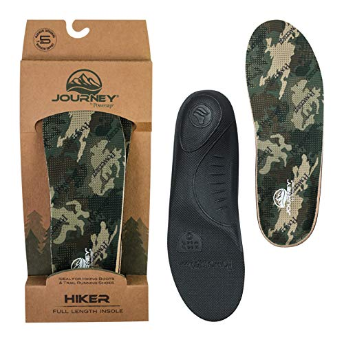 Powerstep unisex adult Powerstep® Journey™ Hiker Insoles Athletic Sandal, Camo, 7-7.5 Women 5-5.5 Men US