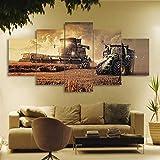WGWNYN 5 Stück HD-Druck Leinwand Bauernhof Traktor