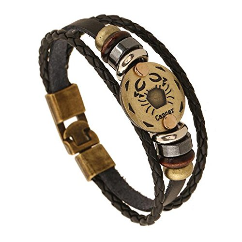 Astrologisches Design 12 Constellation Leder Unisex Armband