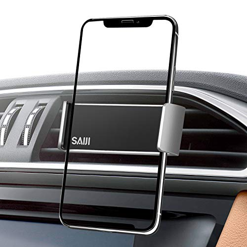 saiji-air-vent-car-mount-more-secured-dual-clamp-grip-360-rotation-car-holder-universal-cell-phone-holder-compatible-with-4-7-6-inch-iphone-samsung-nexus-nokia-lg-sony-smartphones-silve