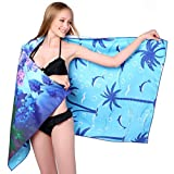 Microfiber Sand Free Beach Towel Blanket-Quick Fast Dry Super Absorbent Lightweight Thin Towel for Travel Pool Swimming Bath Camping Yoga Gym Sports Idea Submarine World with Palam