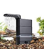 hygger Filtro Acuario 580L/H, Filtro Pecera Interno, 75 a 190 Litros, Filtración Biológica para Acuarios Anfibios, con 2 Esponjas y Biobolas, para Tortugas, Cangrejos y Ranas