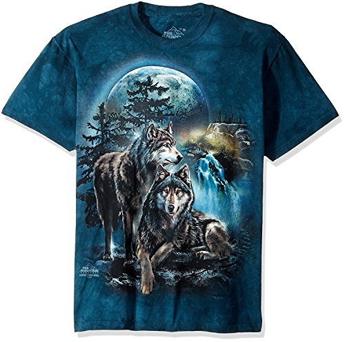 The Mountain Unisex Erwachsene Wolf Lookout T-Shirt, Grün, XXL