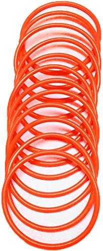 A-Express® Armreif im 1980er-Stil, neonfarbe, aus Gummi, Armband, orange