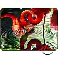 ZMviseフラミンゴ水背景ファッション漫画マウスパッドマットカスタム四角形ゲームマウスパッド