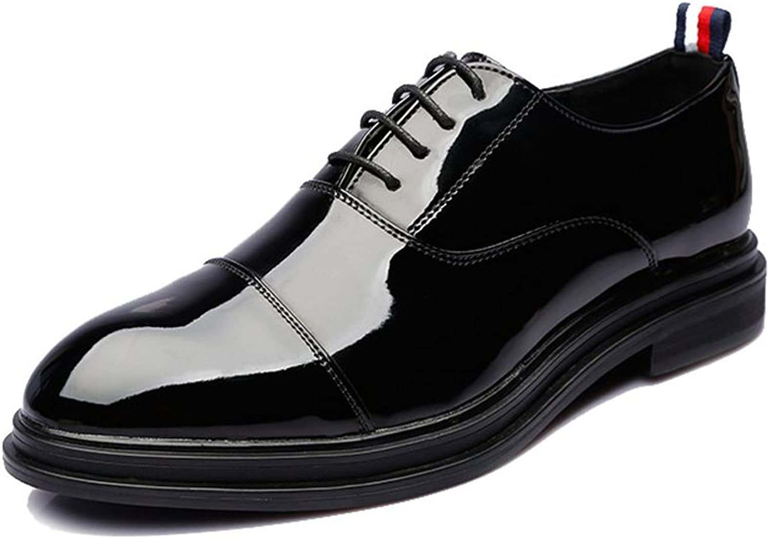 CHENXD shoes, Men's Fashion Classic Breathable Smooth PU Leather shoes Lace Up Formal Business Lined Outsole Oxfords
