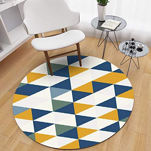 WANGXN ronde tapijt wasbaar zacht en huidvriendelijk eenvoudige Scandinavische woonkamer salontafel slaapkamer tapijten