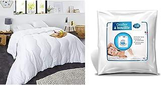 Sweetnight - Couette Hiver 400g/m² | 140x200cm | Chaude et Enveloppante | Anti Acariens | Lavable & Oreiller à Bouillir | ...