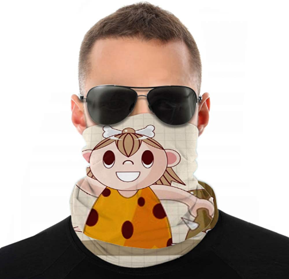 Headbands For Men Women Neck Gaiter, Face Mask, Headband, Scarf Caveman Theme Elements Turban Multi Scarf Double Sided Print Face Mask For Sport Outdoor