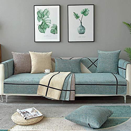 HXTSWGS Cojín Northern Osame, Respaldo de sofá de Tela de cojín Universal Cuatro Estaciones-Azul Marino_90 * 180