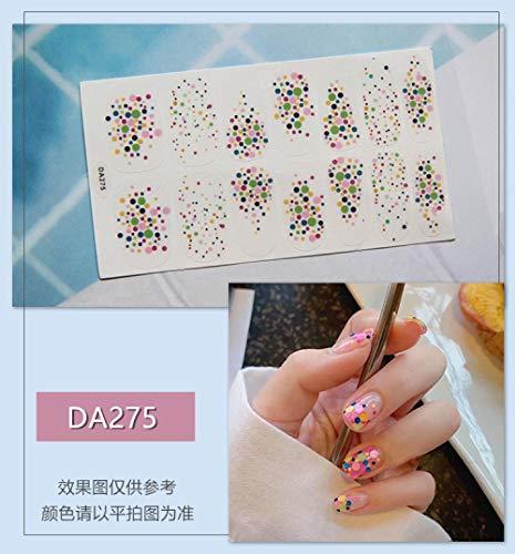 BGPOM Nail Sticker Avocado Full Sticker Strawberry Rainbow Cat Eye Waterproof Nail Polish Sticker 10 Pieces/Set,DA275