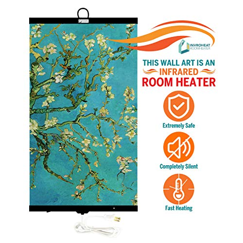 Save %27 Now! Invroheat - Decorative Wall Hanging Infrared Space Heater/Portable Heater 430W Perfect...