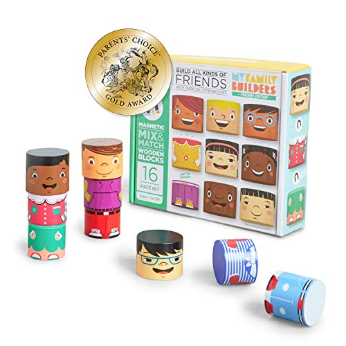 My Family Builders Friends Edition Diversity Building Blocks with Magnets – Build Little People...
