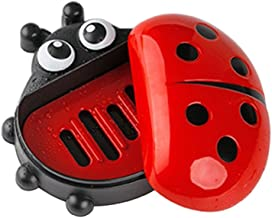 yingyue Cute Cartoon Ladybird Shape Soap Holder Box Toilet Bathroom Kitchen Holder Container Accessories Red
