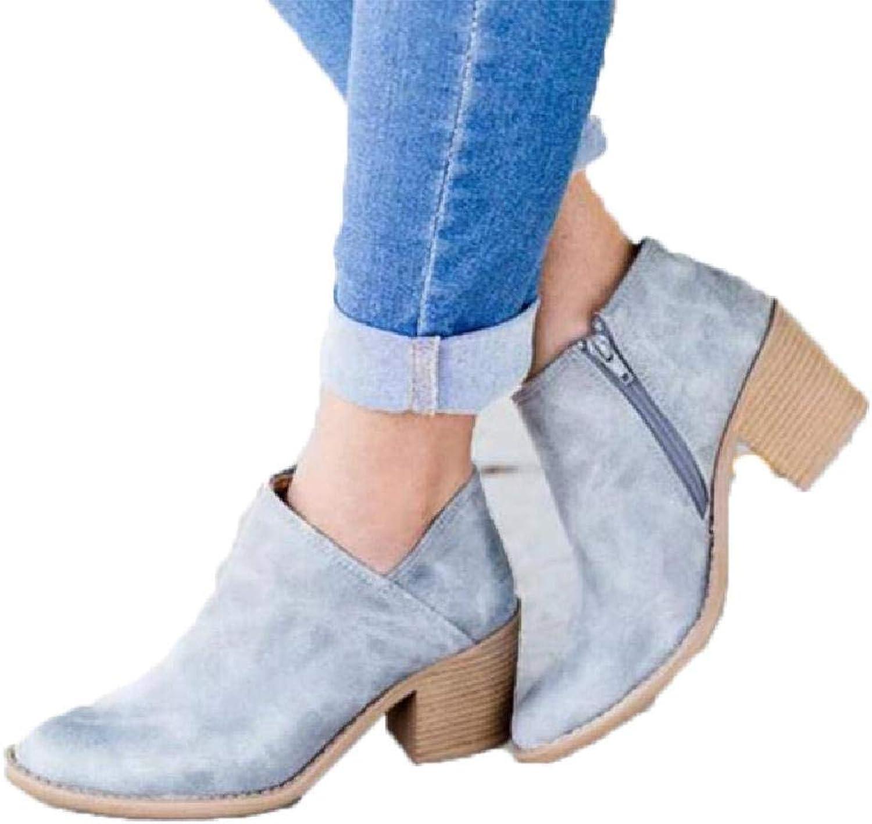 MZjJPN Women High Heels Plus Size Concise Thick Block Heel shoes Woman Ankle Boots Elegant Casual Footwear