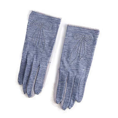 ROIY Sommer Im Freien Sonnenschutz Fahren Elastische rutschfeste Touchscreen-Handschuhe Damen Baumwolle Dünnschliff Anti-UV-EIS Seidenhandschuhe Outdoor Reiten Sonnenschutzhandschuhe