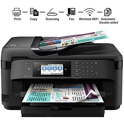 TANCEQI Tintenstrahldrucker Wirtschaftliche Multifunktions, Duplex Druck Kopie Scannen Fax, 4-Farben, Schwarz 18 Seiten Farbe 10Ppm, 4800 × 2400 DPI