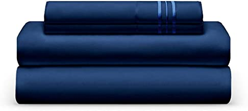 THE BEDSHEET CLUB Luxury Sheet Set, Split King, Navy Blue, Ultra-Soft, Breathable, Cool and Wrinkle Free