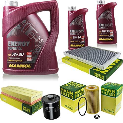 Paquete de inspección 7 litros Energy Combi LL 5W-30 + paquete de filtros MANN 10930266