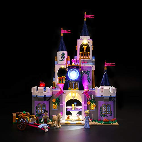 BRIKSMAX Led Lighting Kit for LEGO Princess Cinderella's Dream Castle,Compatible with LEGO 41154 Building Blocks Model- Not Include the Lego Set