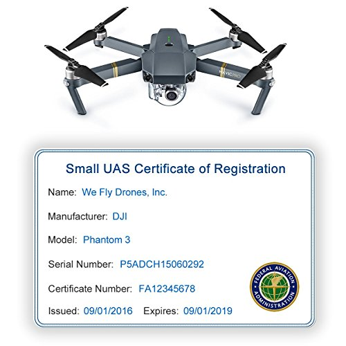 Drone FAA UAS Registration ID Card for Commercial Pilots