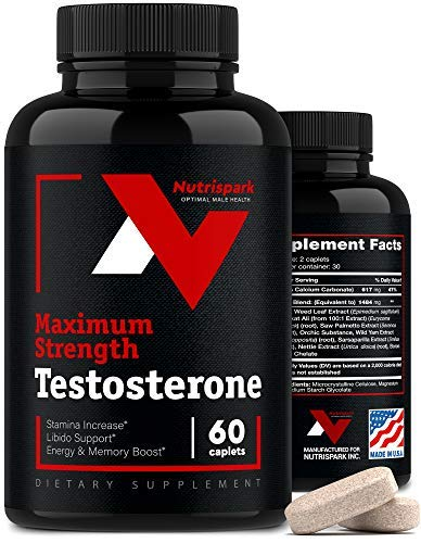 Testosterone Booster for Men - Made in USA - Men Testosterone Pills with Horny Goat Weed - Mens Testosterone Booster for Muscle Growth, Desire & Energy Increase - Tongkat Ali Capsules