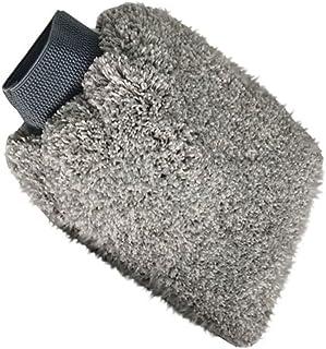 TOHHOT Autowashandschoenen waterdicht fluweel vezel dubbelzijdige grote autowisserhandschoenen auto wasgereedschap grijs