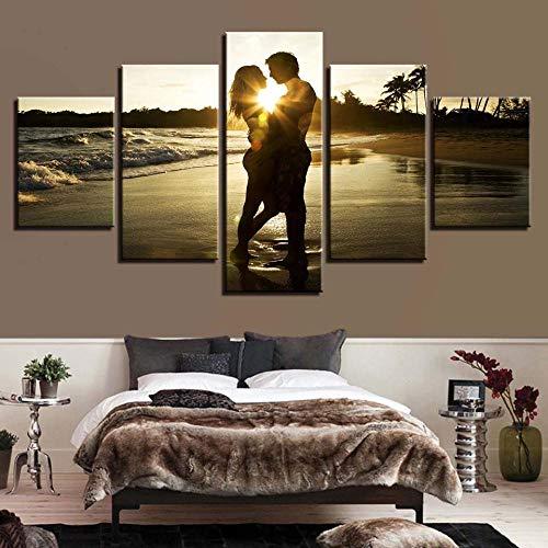 RuYun 5 met inkjet - strandrestaurant rotsachtige seascape schilderij slaapkamer kantoor sofa achtergrond decoratief schilderwerk canvas schilderwerk, schilderij kern 30x40cmx2 30x60cmx2 30x80cmx1, h233-3