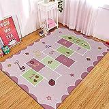 CMwardrobe Kinder Antirutsch Teppich Spielteppich Moderner Spielteppich Kinderzimmer Rosa SpaßZahl Ultrasoft Kurzflor Babydecke Matte 120×160CM