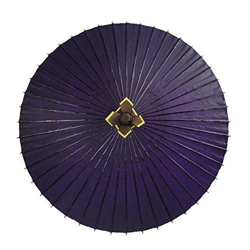 特注番傘 実用番傘 雨傘 防水加工 … (紫)