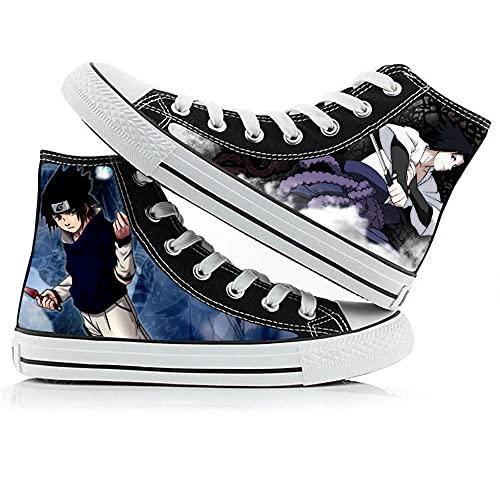 LKKOY Naruto Mujeres Zapatillas De Deportivos De Sneakers Transpirable con Cordones Zapatillas Deportivas para Correr Atlético Caminar Zapatos Zapatos De Lona De Caña Alta A Todo Color De Anime 39