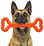 CMKJ - Juguete para perros agresivos para masticadores agresivos, duradero para cambiar los dientes para perros enérgicos, perros medianos y grandes (naranja)