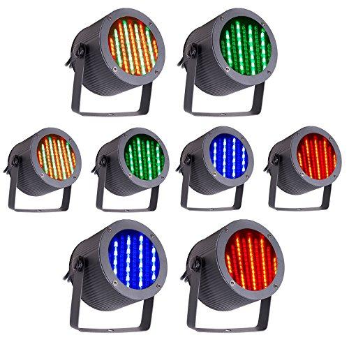Z ZELUS Luz de Escenario 86 RGB LED Iluminación para Escenario DMX 512 Luces Discoteca Led Control Remoto Mejor para Fiesta DJ Disco Bar Boda (8 PCS)