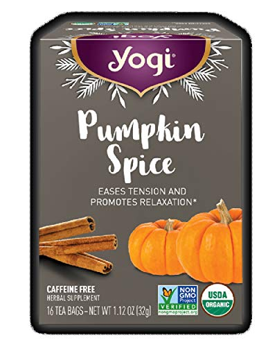 Yogi Limited Release Seasonal Pumpkin Spice Tea - Caffeine Free Herbal Tea (16 Tea Bags - Net Wt 1.12 Oz)