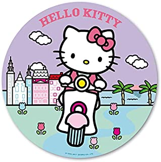 Disco Oblea Hello Kitty Moto para Tartas Infantiles Redondo 20cm
