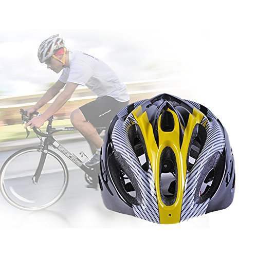Lista Outdoor Sport Bicycle Helmet Integrated Molding Breathable Cycling Helmet for Man Woman (Yellow)