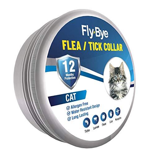 Fly-Bye - Collar de pulgas para Gatos - 12 Meses de protección contra pulgas para Gatos