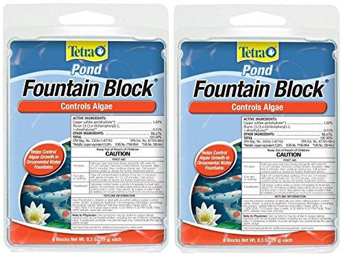 Tetra Pond Anti-Algae Control Blocks for Fountains, 6-Count (2-Pack)