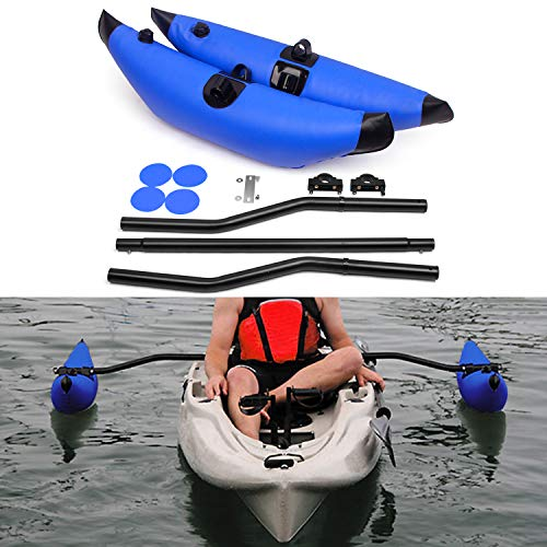 Galapare Kayak PVC Inflatable Outrigger Float with Sidekick Arms Rod Kayak Boat Fishing Standing Float Stabilizer System Kit