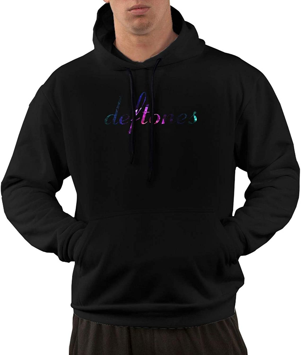NolanO Deftones Mens Hoodies Hoodie With Pocket Black