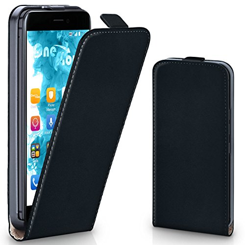 MoEx® Flipcase passend für Huawei P8 Lite 2017 | Klapphülle Handytasche mit Rundum Schutz - Handy Hülle Klappbar Flip Case, Schwarz
