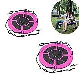 NUB Nestschaukel Durchmesser 39Inch Für Zwei Oder Mehr Kinder(2 Stück Set),Rosa