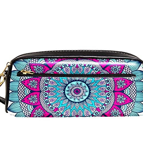 Estuche para lápices Marcador Bolígrafo Bolsa Organizador de escritorio Hippie Henna Mandala Bolsa de almacenamiento