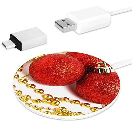 ZYHFBHFBH compatible con 10 W Fast Red Jewelry (2) tarjeta de carga inalámbrica Qi, apto para iPhone, Airpods o cualquier dispositivo que soporte Qi carga inalámbrica.